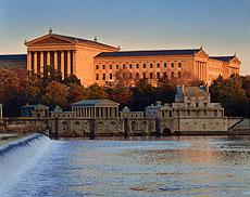 Philadelphia Museum of Art Water Works view
